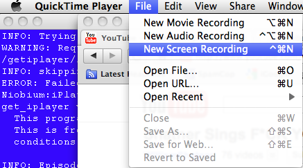 QuickTime X includes basic screen capture