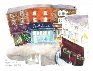 Pentolina postcard