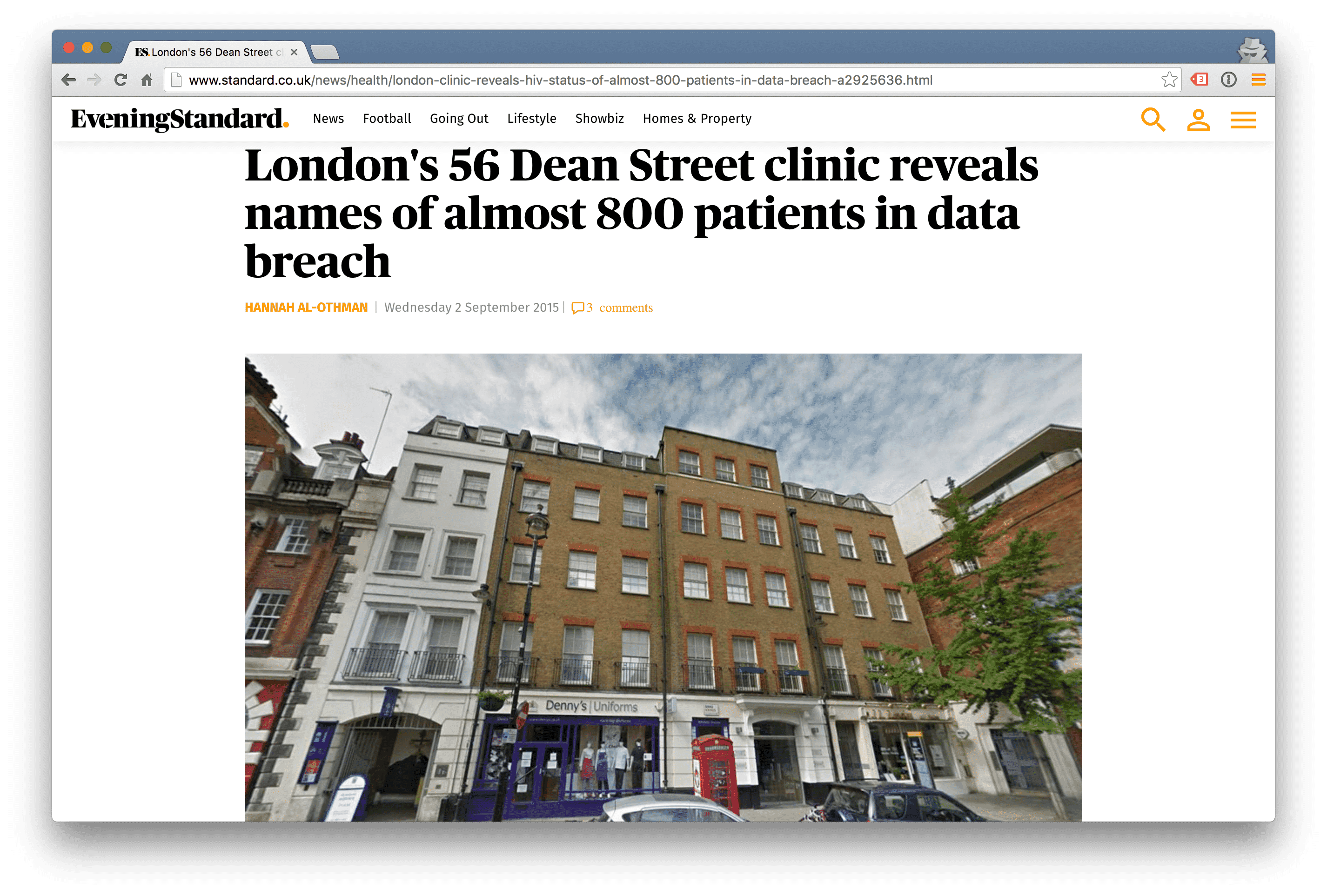 56 Dean St in the ©Evening Standard